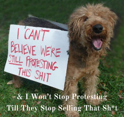 I am soooo sick of protestin' this shit I'm gonna doggupy Wal-Mart, dad gumit!