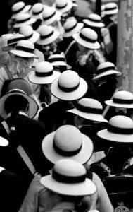 Sea of Hats Print by Sheila Smart