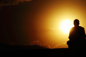 Discovering-Practical-Spirituality-Photo-of-Man-Thinking-Against-a-Marvelous-Sunset