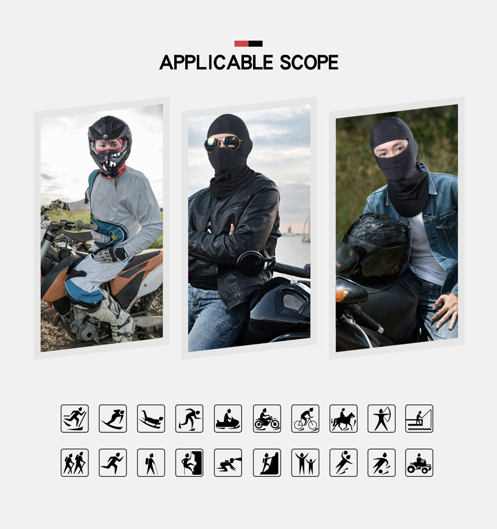 Фото HEROBIKER Motorcycle Mask Winter Thermal Fleece Balaclava Hat Hood Bike Wind Stopper Face Mask Men Neck Warmer Winter Fleece
