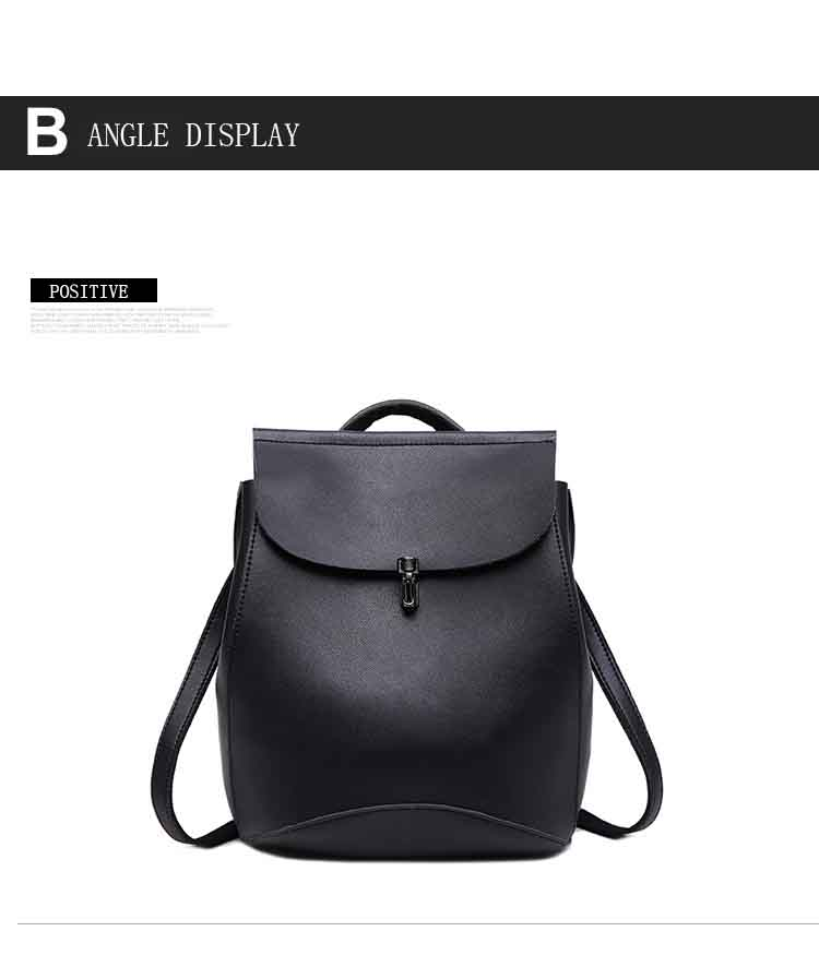 Фото Bolish brand high quality PU leather women backpack vintage backpack for teenage girls casual bags female travel bag