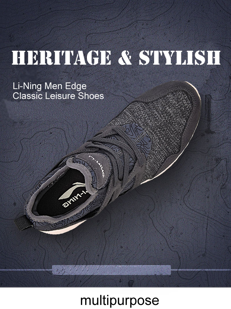 Фото Li-Ning Men Edge Walking Shoes Leisure Light Weight Breathable LiNing Sports Shoes Sneakers AGCM057 YXB083
