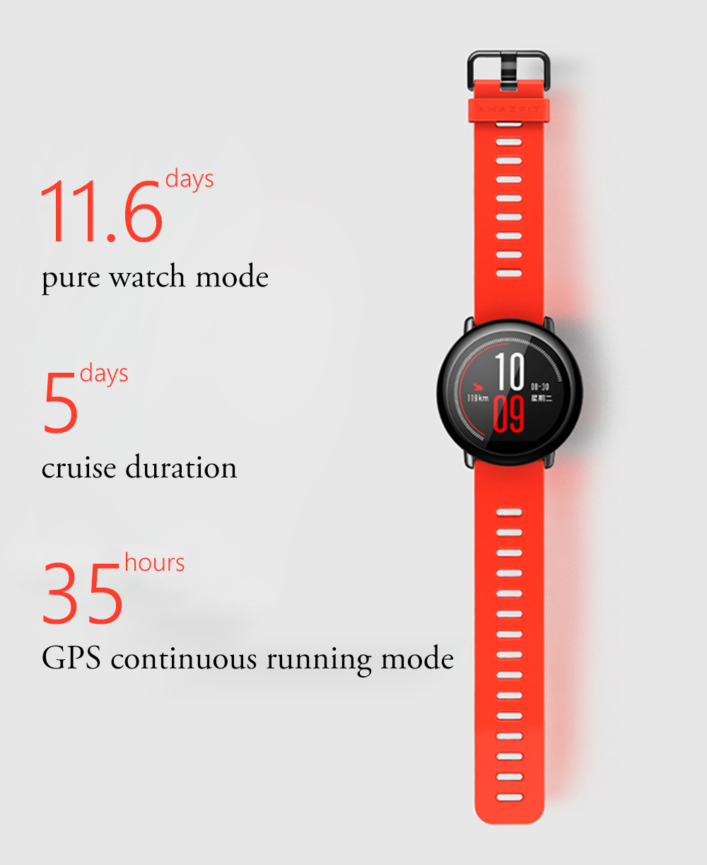 Фото Original Xiaomi Huami Watch AMAZFIT Pace Sports Smart Watch English Version Bluetooth 4.0 Heart Rate Monitor GPS For Android IOS