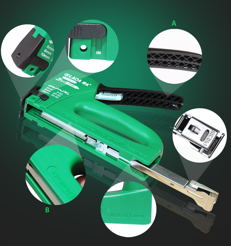 Фото LAOA Multitool Nail Gun Upholstery Framing Rivet Staple Guns Kit Furniture Stapler For Wood Door  Nailers Rivet Tool Nietzange