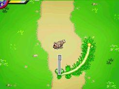 Essayez d'entourer le plus vite possible les Pokémon adverses qui vous barrent la route...