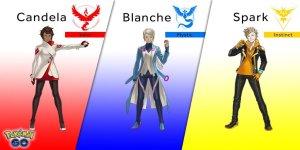 Pokemon-GO-Team-Leaders-Spark-Blanche-Candela