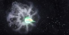 Collision entre Méga-Rayquaza et la météorite.