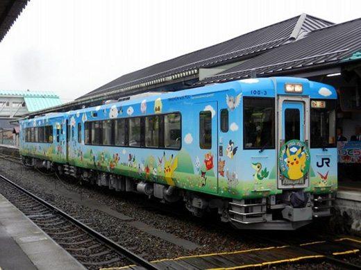 Questo allegro treno Pokémon è dedicato ai bambini colpiti dallo tsunami del 2011.