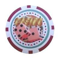 Casino Dice röd