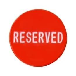 Reserved Button - röd