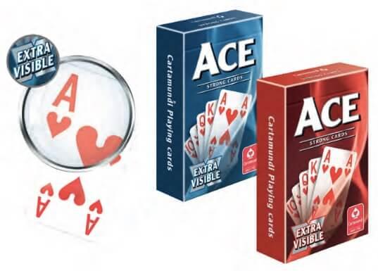 Kortlek: ACE Extra Visible - Blå