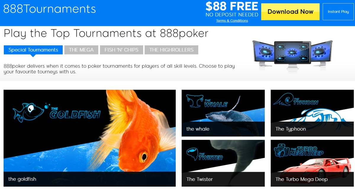 888poker tournaments