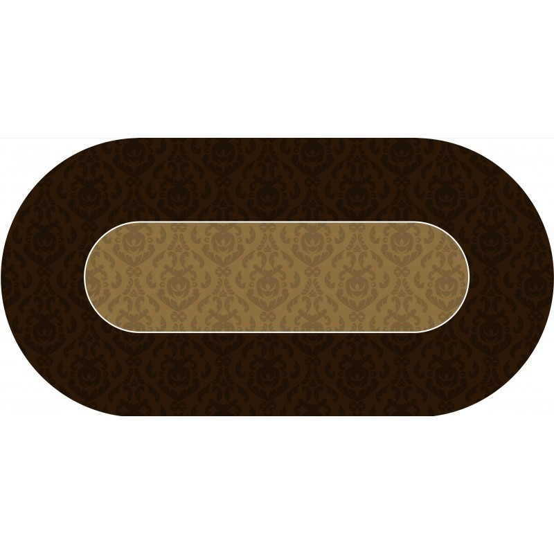poker layout rubber grip oval victorian brown