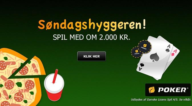 Ny freeroll bonuskode til Danske Spil Poker Søndagshyggeren!