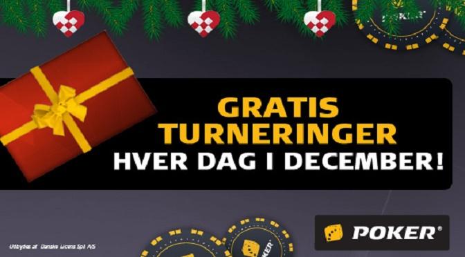 Gå juleamok i poker freeroll julekalender fra Danske Spil