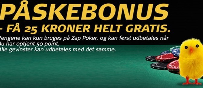 Gratis pokerbonus med eksklusiv bonuskode til påske 2016