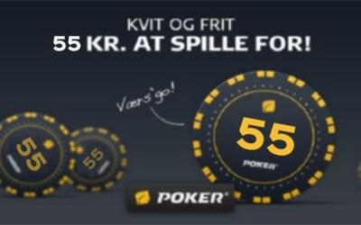 Danske Spil Poker bonuskode GRATIS55 til alle