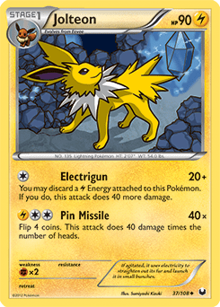 Jolteon Carta 37108 Oscuros Exploradores CartaDex