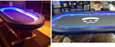 LED Poker Table
