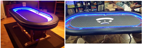 LED Poker Table
