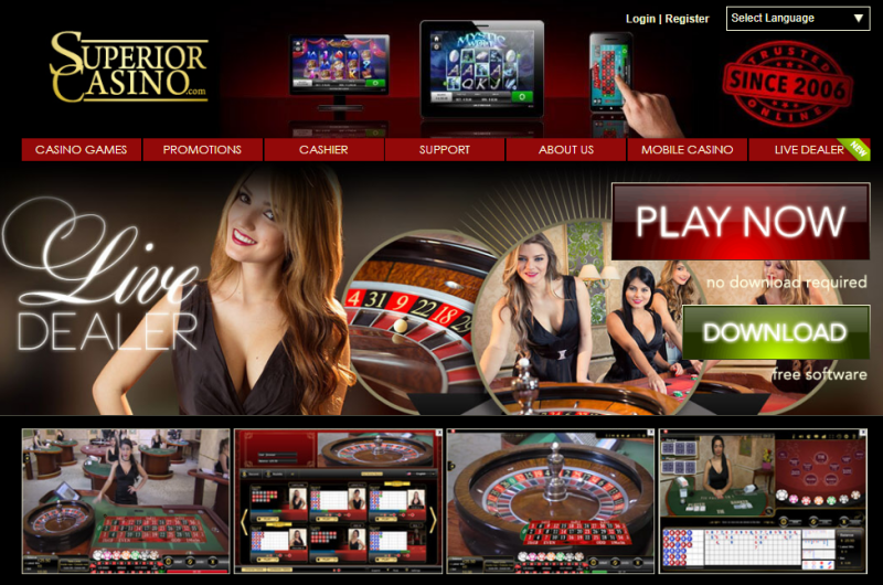 Superior Casino Live dealer games