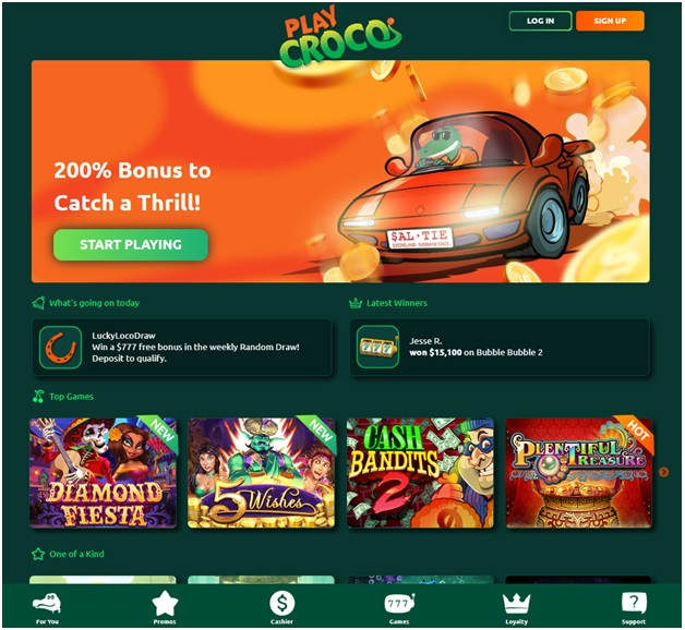 Play Croco Casino- The new online fabulous casino for Aussies