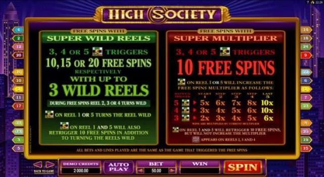 9 Bonuses of High Society
