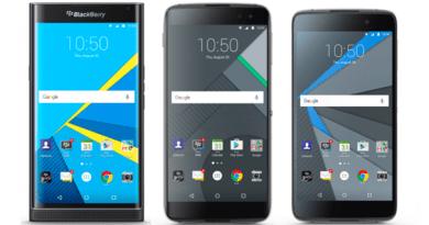 Black Berry Priv; DTEK50 and DTEK60 phones