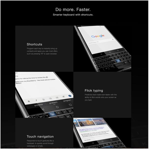 Blackberry KeyOne- Keyboard
