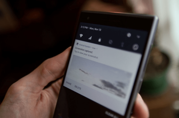 How to take screen shot in Blackberry Motion