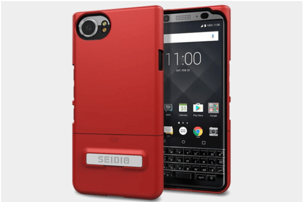 Blackberry keyone smartphone- Seidio Surface Case with Holster