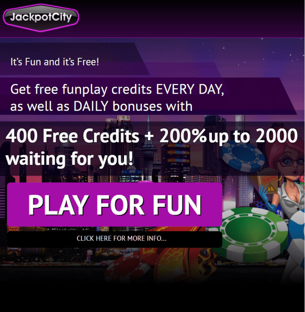 Jackpot city casino fun casino bonus