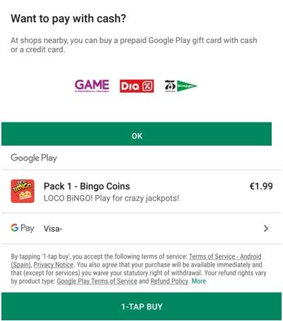 Loco Bingo coin purchases