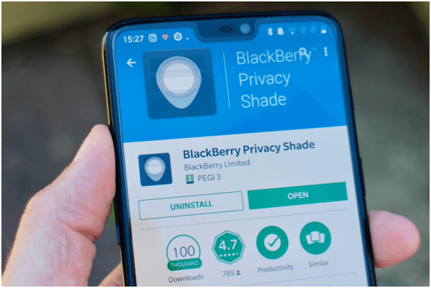 Privacy shade in Blackberry phones
