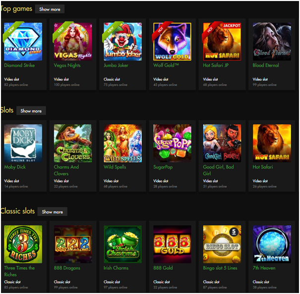 Games to play at Rich Casino