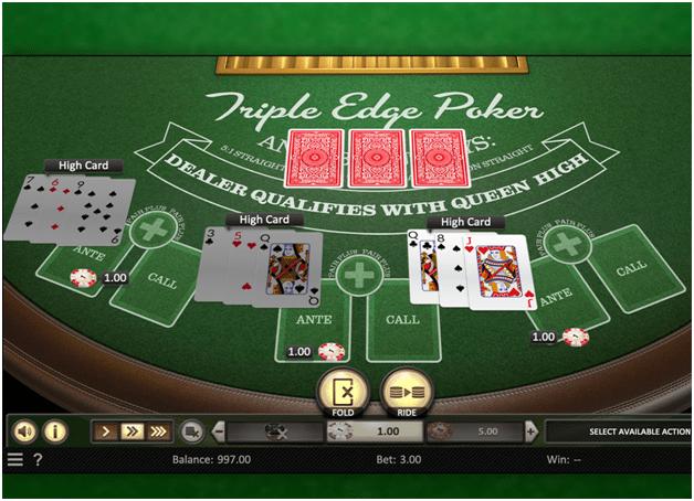 Side bets in Triple Edge Poker