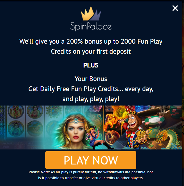 Spin Palace- play for free
