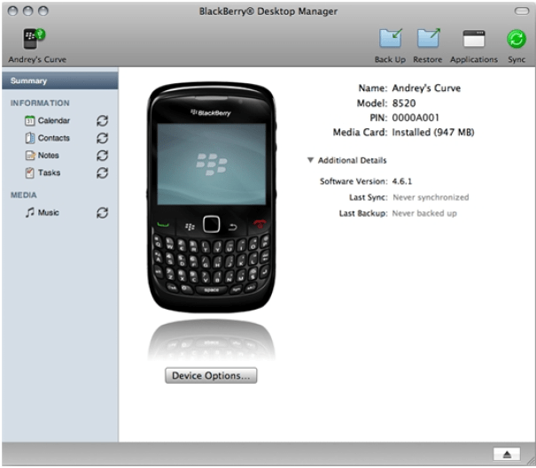 Transfer contacts from Blackberry to iPhone using PC