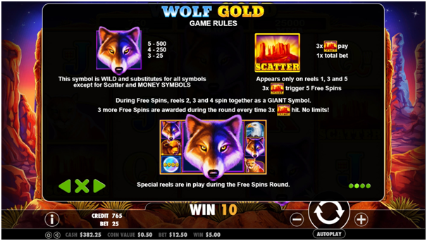 Game Play Wolf Gold