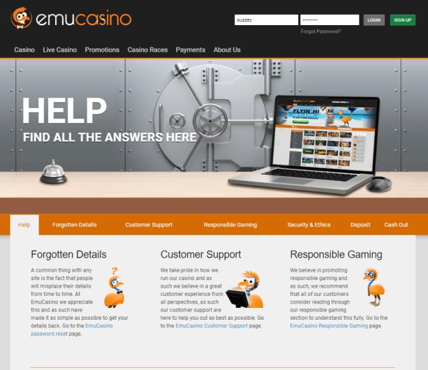 Emu casino help