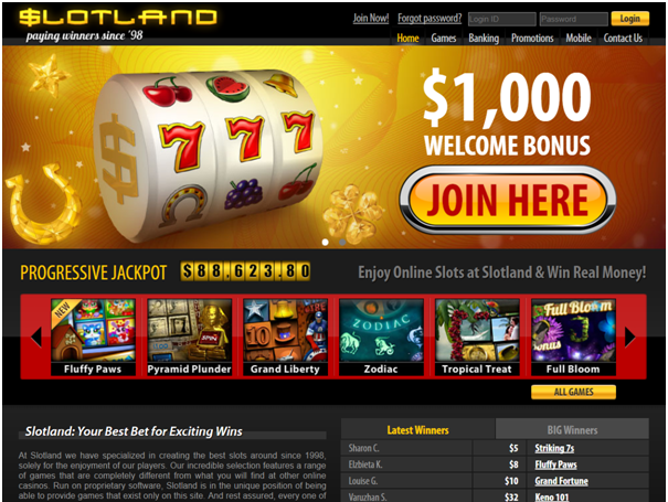 Slotland casino bonuses for ipad