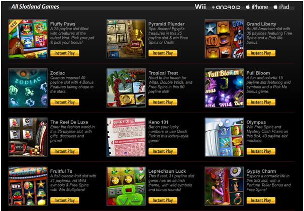 Slotland casino games for iPad