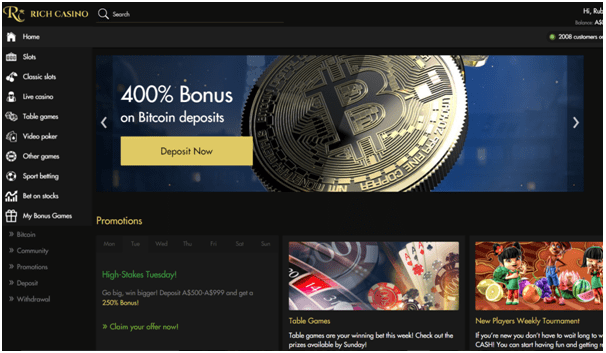 Bitcoin bonuses at online casinos