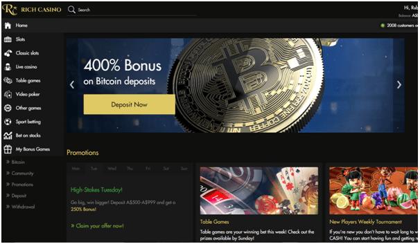 Bitcoin bonuses at online casinos