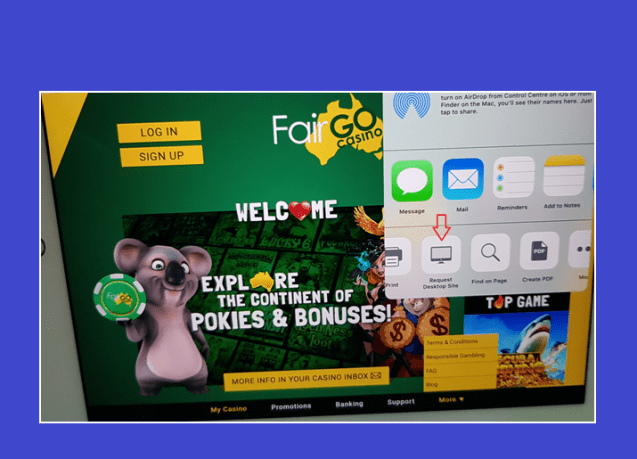 Request desktop version for ipad