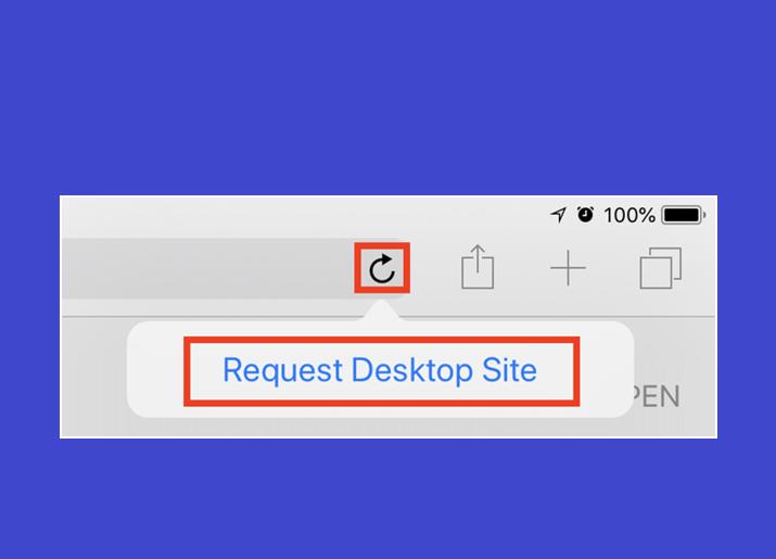 Request desktop version