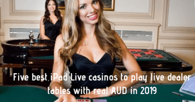 Five best iPad Live casinos to play live dealer tables with real AUD in 2019