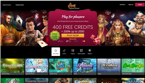 Royal Vegas play for fun casino