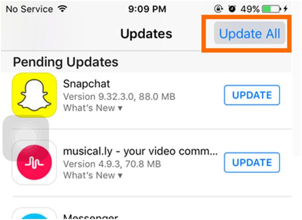 How to update app on iPad