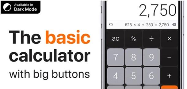 The calculator app